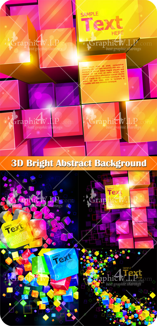 3D Bright Abstract Background - Stock Vectors