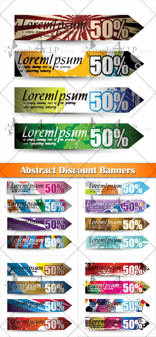 Abstract Discount Banners - Stock Vectors