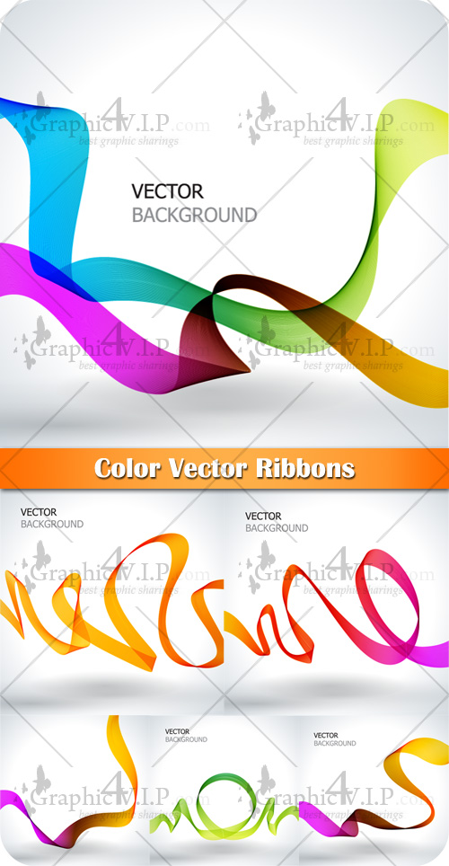 Color Vector Ribbons - Stock Vectors