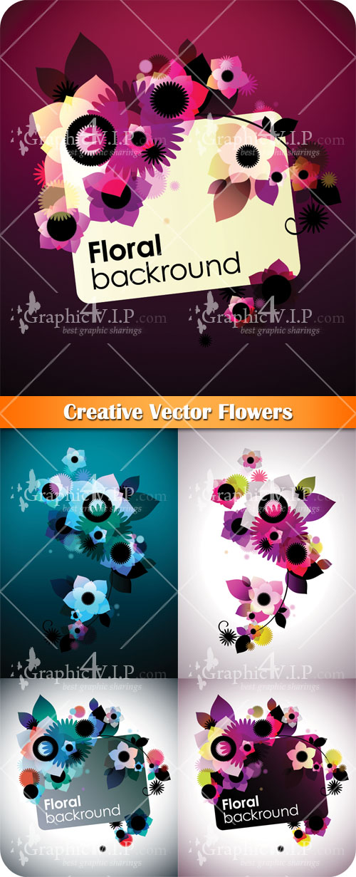 Creative Flowers - Stock Vectors