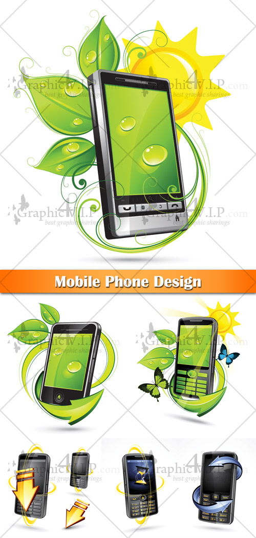 Mobile Phone Design - Stock Vectors
