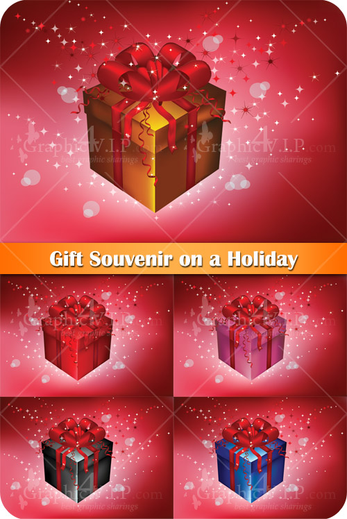 Gift Souvenir on a Holiday - Stock Vectors