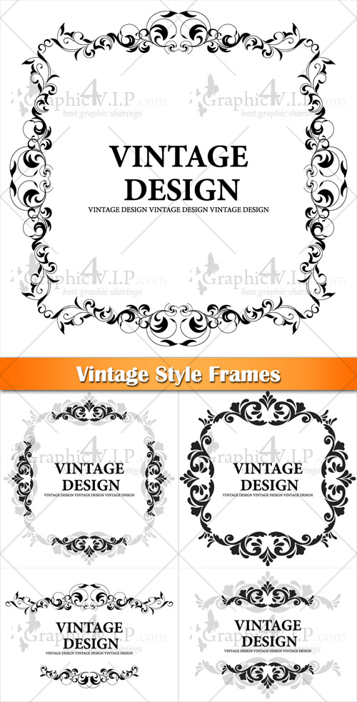 Vintage Style Frames - Stock Vectors