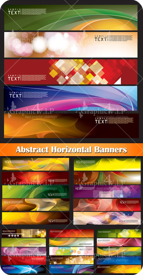 Abstract Horizontal Banners - Stock Vectors