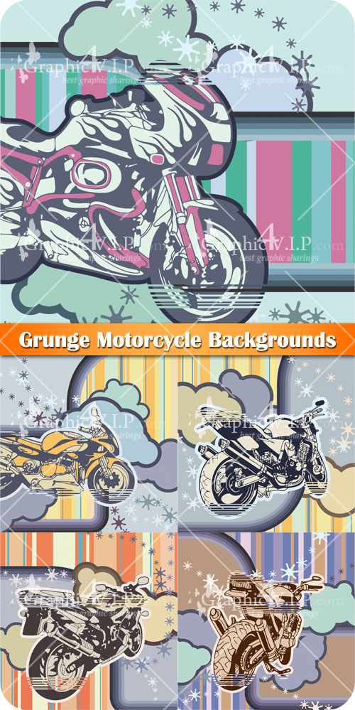 Grunge Motorcycle Backgrounds - Stock Vectors