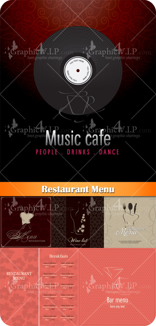 Restaurant Menu - Stock Vectors