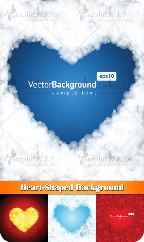 Heart-Shaped Background - Stock Vectors