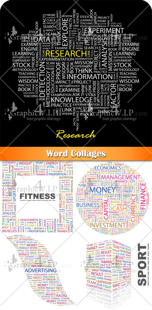 Word Collages - Stock Vectors