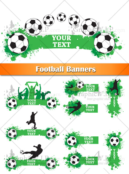 Football Banners - Stock Vectors