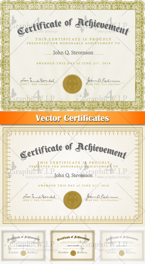 Certificates - Stock Vectors