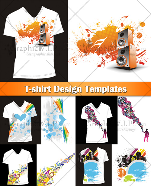 T-shirt Design Templates - Stock Vectors