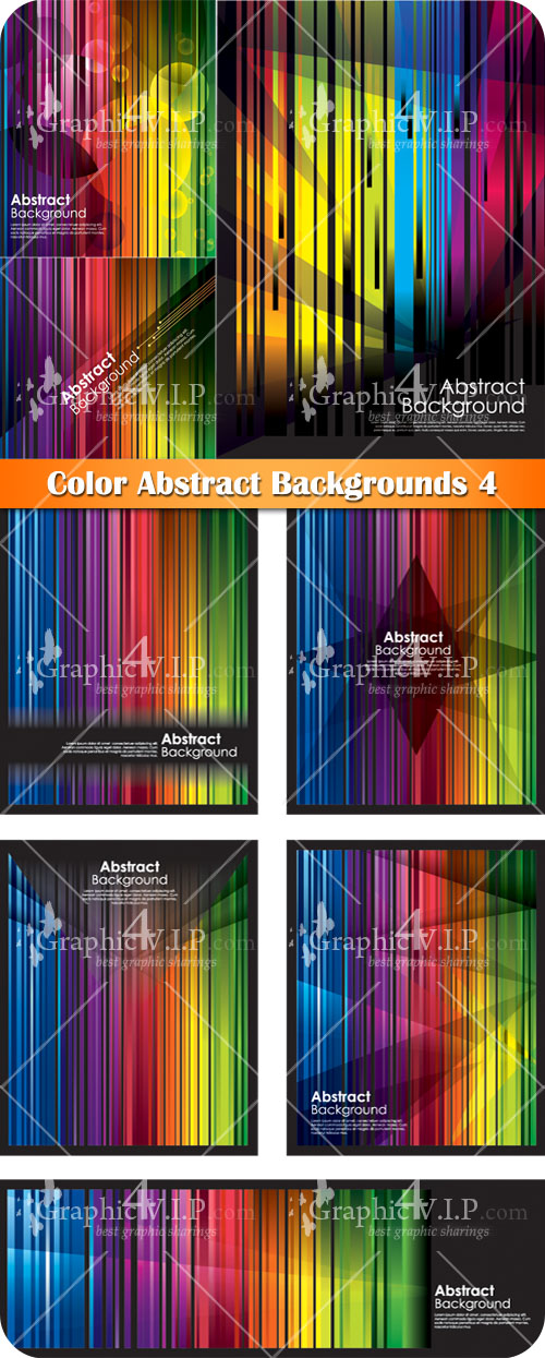 Color Abstract Backgrounds 4 - Stock Vectors