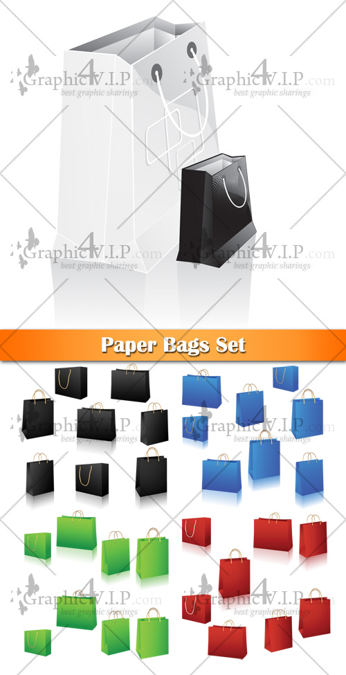 Paper Bags Set - Stock Vectors
