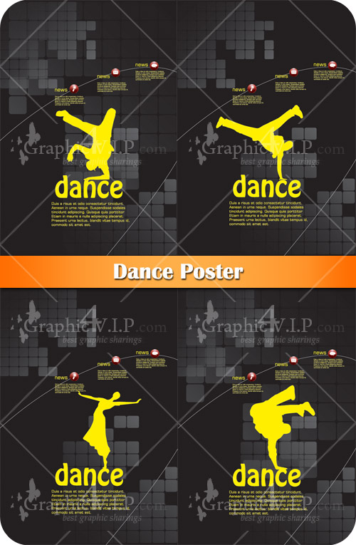 Dance Poster - Stock Vectors