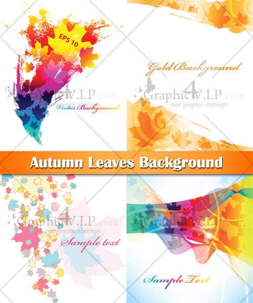 Autumn Leaves Background - Stock Vectors