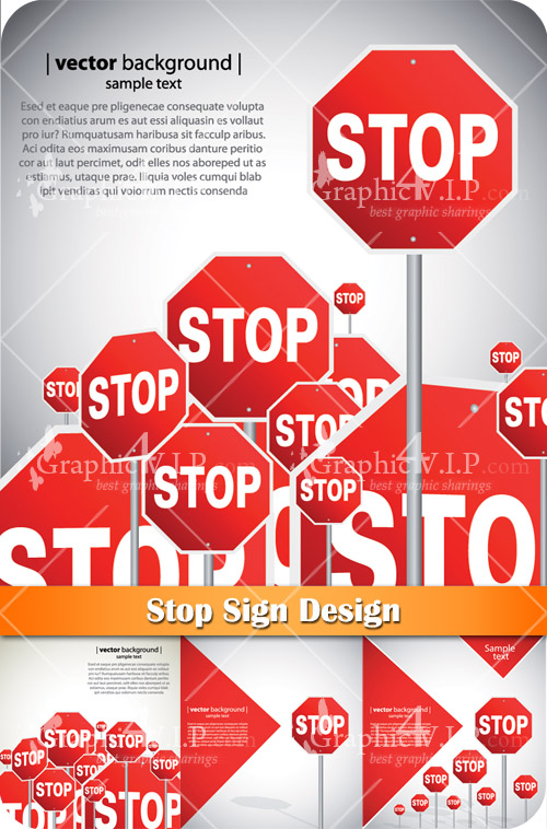 Stop Sign Design - Stock Vectors