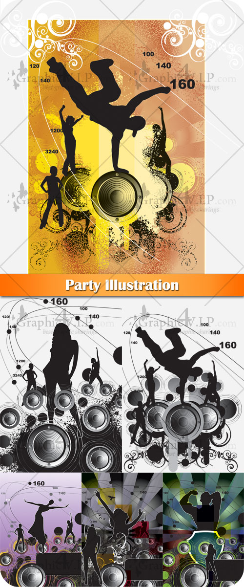 Party Illustration - Stock Vectors