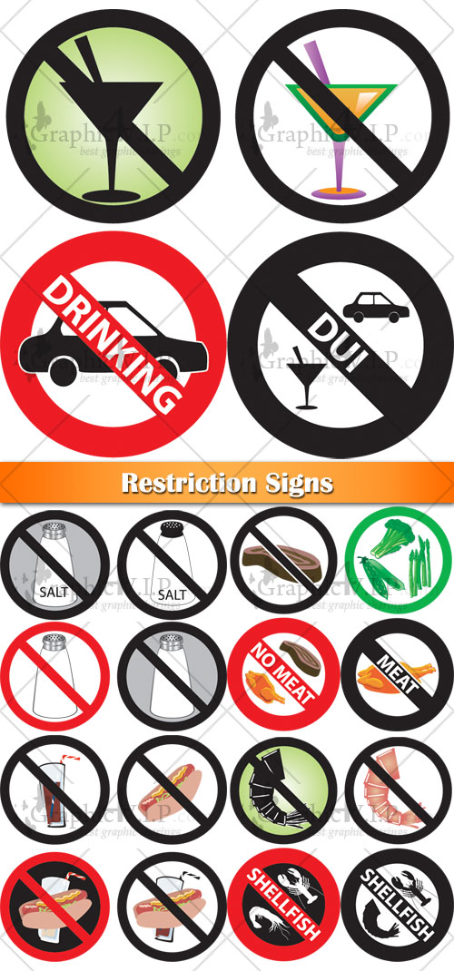 Restriction Signs - Stock Vectors
