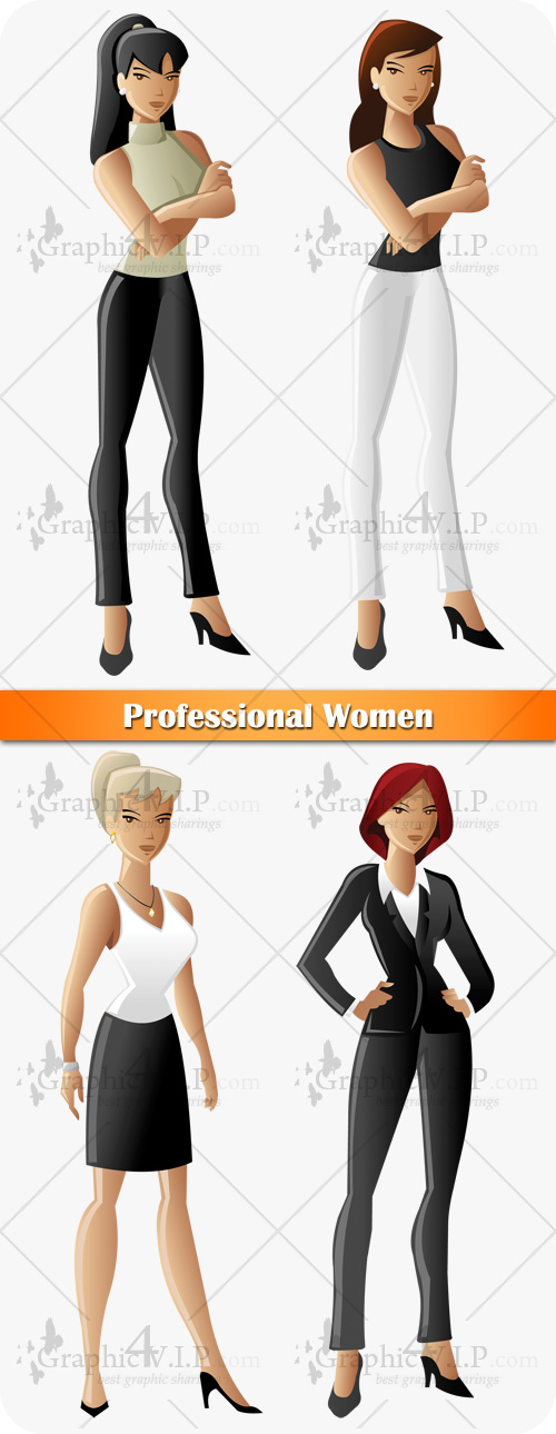Professional Women - Stock Vectors
