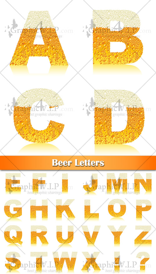 Beer Letters - Stock Vectors