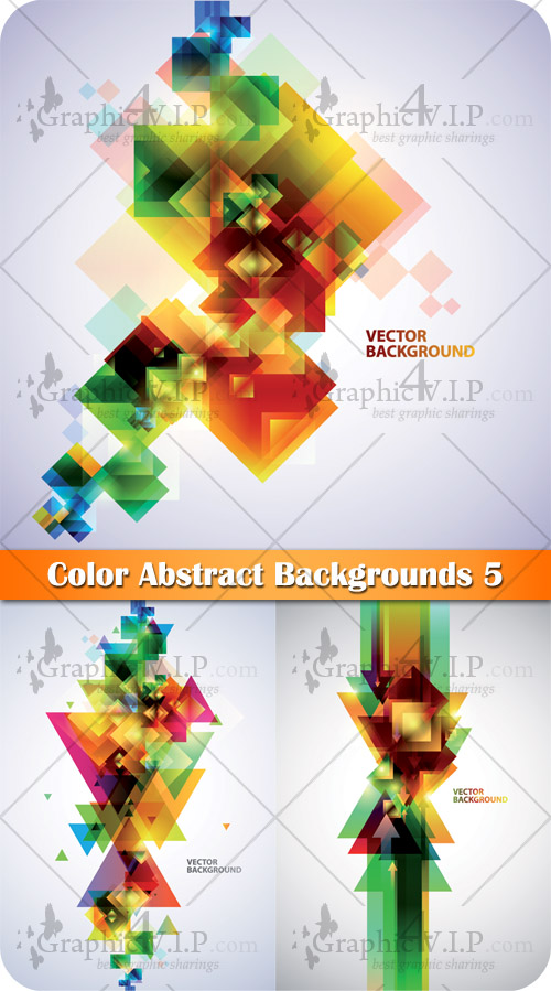 Color Abstract Backgrounds 5 - Stock Vectors
