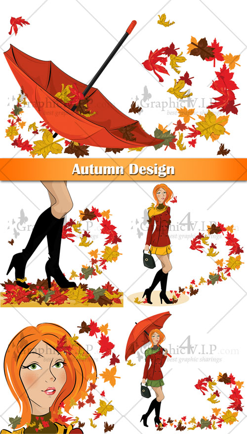 Autumn Design - Stock Vectors
