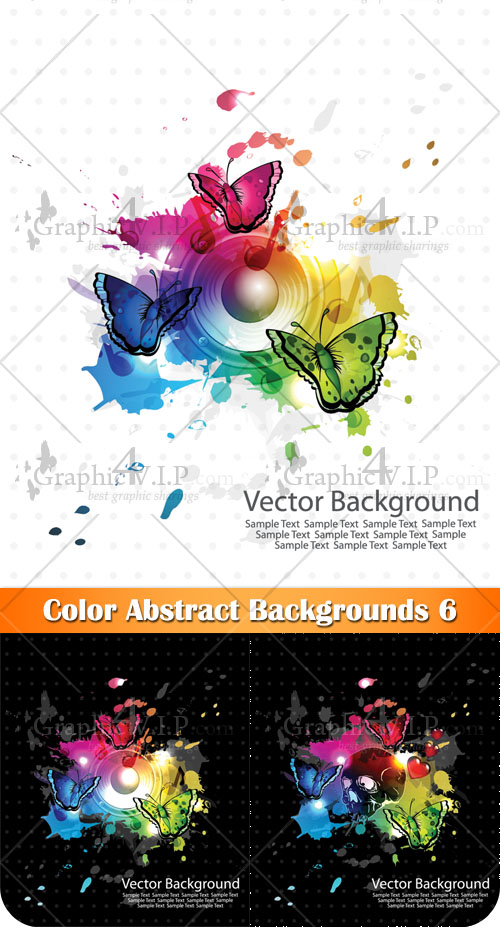 Color Abstract Backgrounds 6 - Stock Vectors