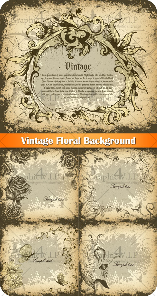 Vintage Floral Background - Stock Vectors