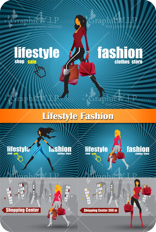 Lifestyle Fashion - Stock Vectors