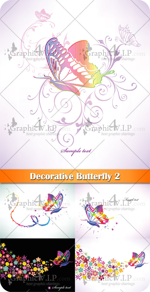 Decorative Butterfly 2 - Stock Vectors