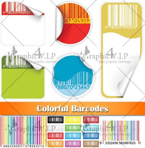 Colorful Barcodes - Stock Vectors