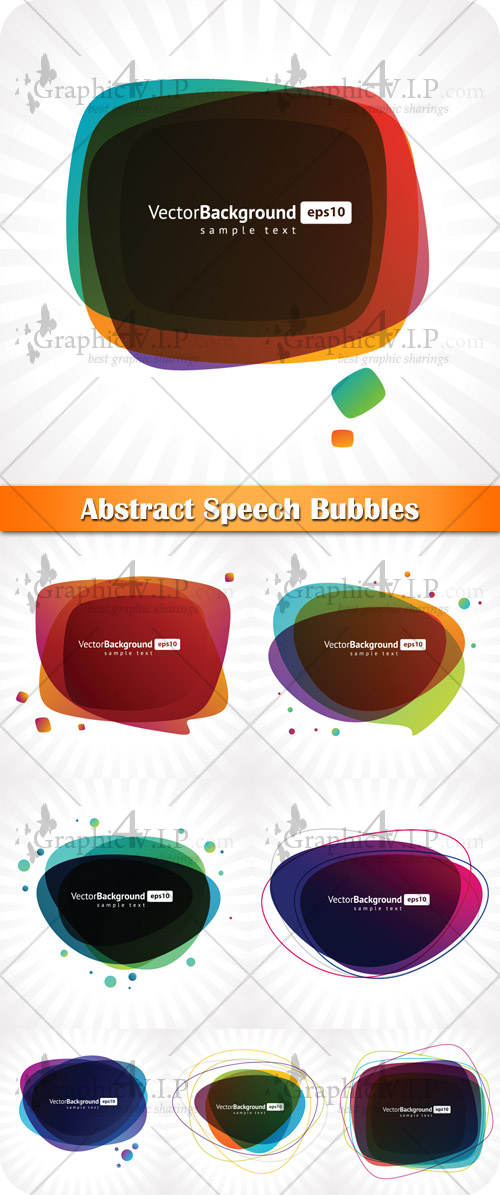 Abstract Speech Bubbles - Stock Vectors
