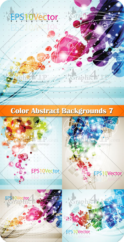 Color Abstract Backgrounds 7 - Stock Vectors