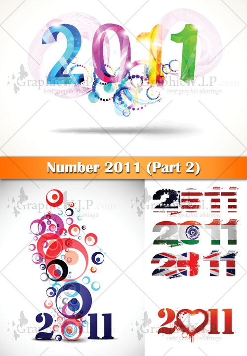 Number 2011 (Part 2) - Stock Vectors