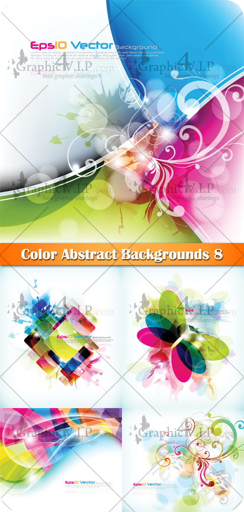 Color Abstract Backgrounds 8 - Stock Vectors