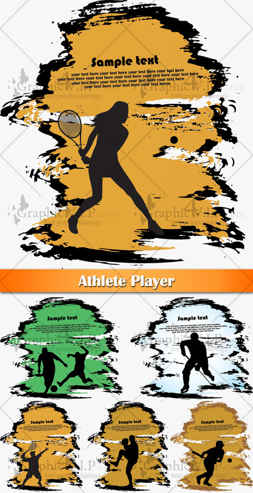 Athlete Player - Stock Vectors