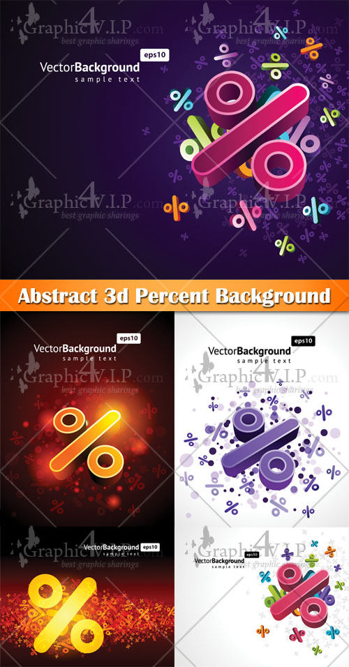 Abstract 3D Percent Background - Stock Vectors