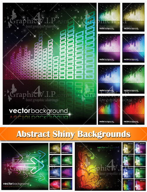 Abstract Shiny Backgrounds - Stock Vectors