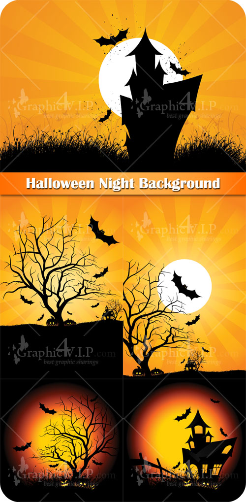 Halloween Night Background - Stock Vectors