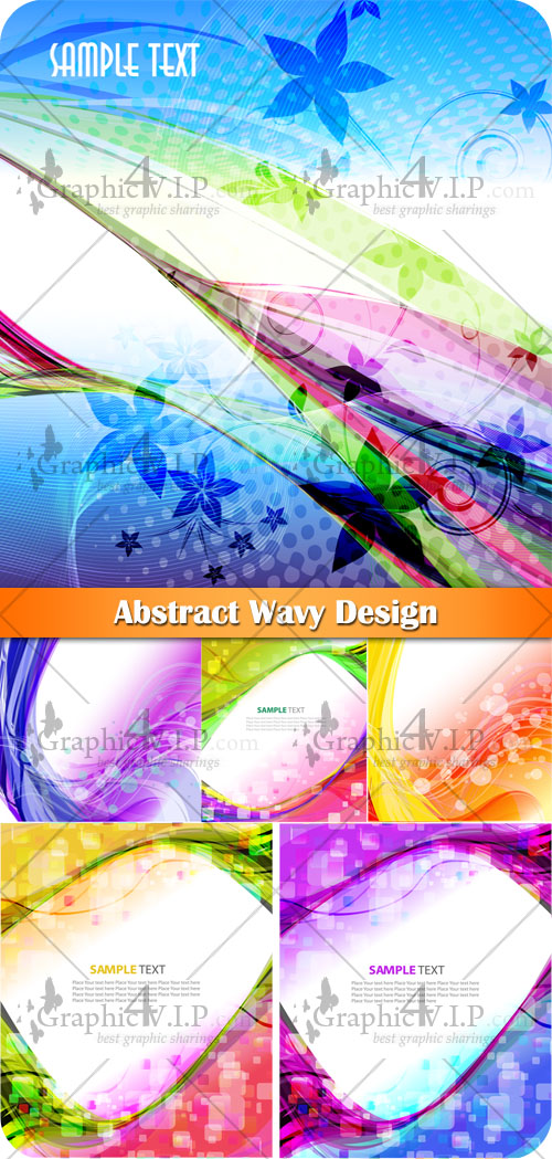 Abstract Wavy Design - Stock Vectors
