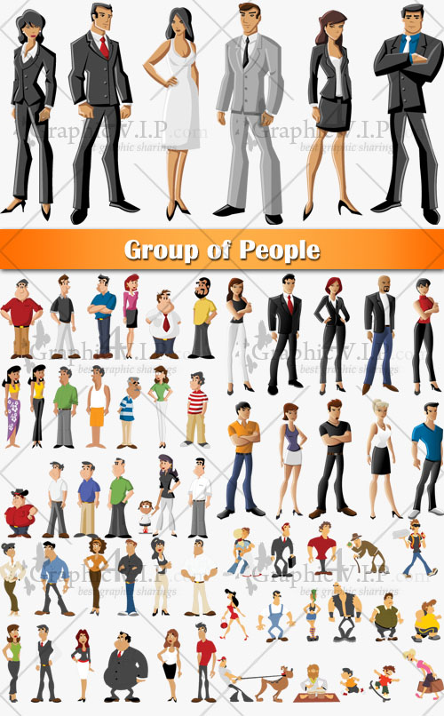 Group of People - Stock Vectors