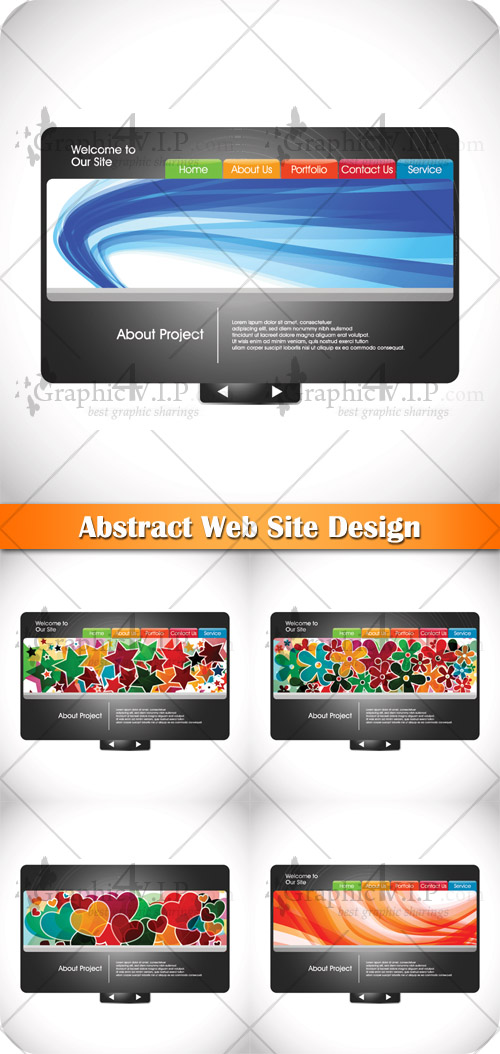 Abstract Web Site Design - Stock Vectors