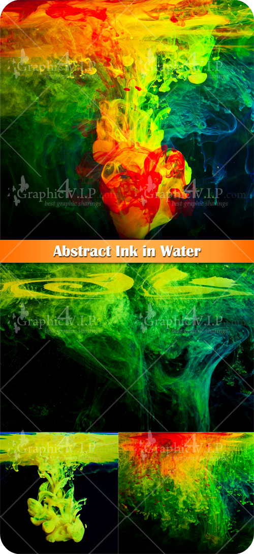 Abstract Ink in Water - Stock Photos