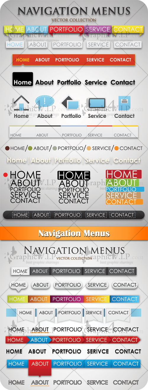 Navigation Menus - Stock Vectors
