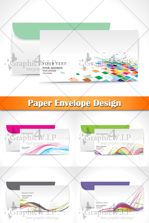Paper Envelope Design - Stock Vectors