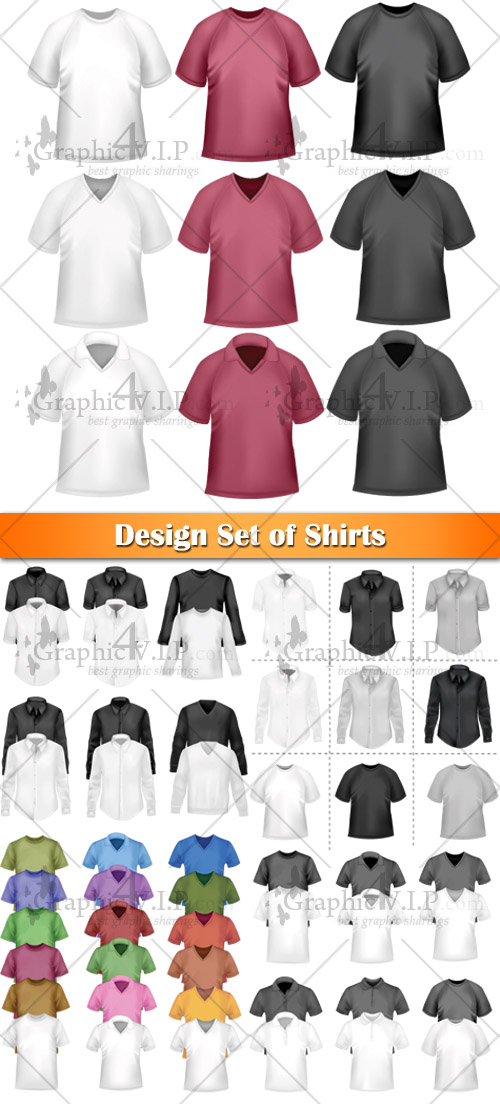 Design Set of Shirts - Stock Vectors