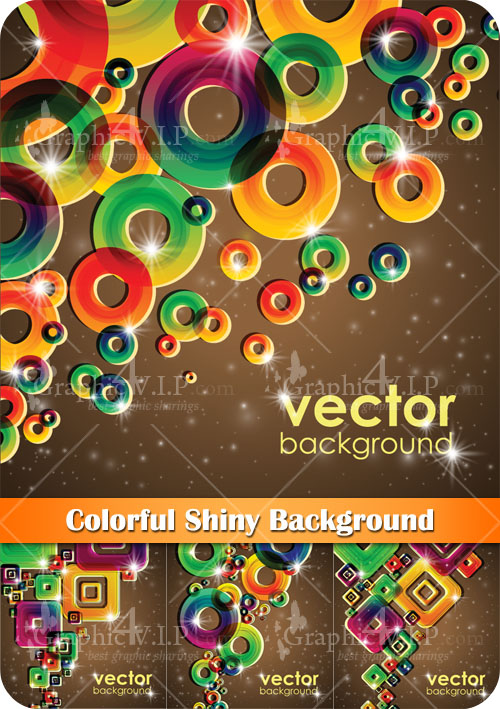 Colorful Shiny Background - Stock Vectors