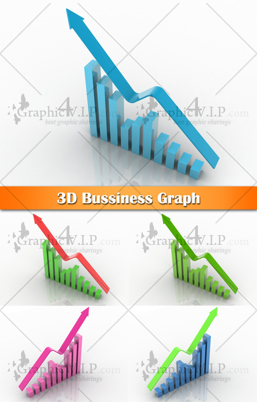 3D Bussiness Graph - Stock Photos