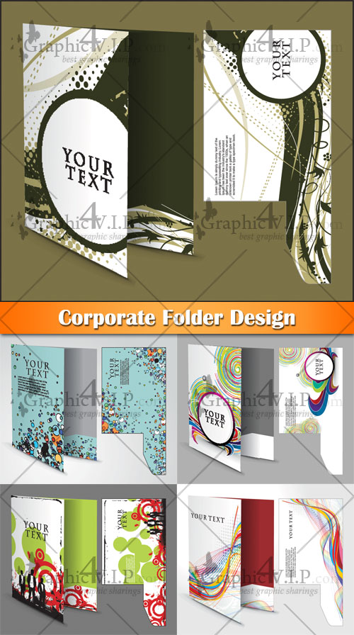 Corporate Folder Design - Stock Vectors