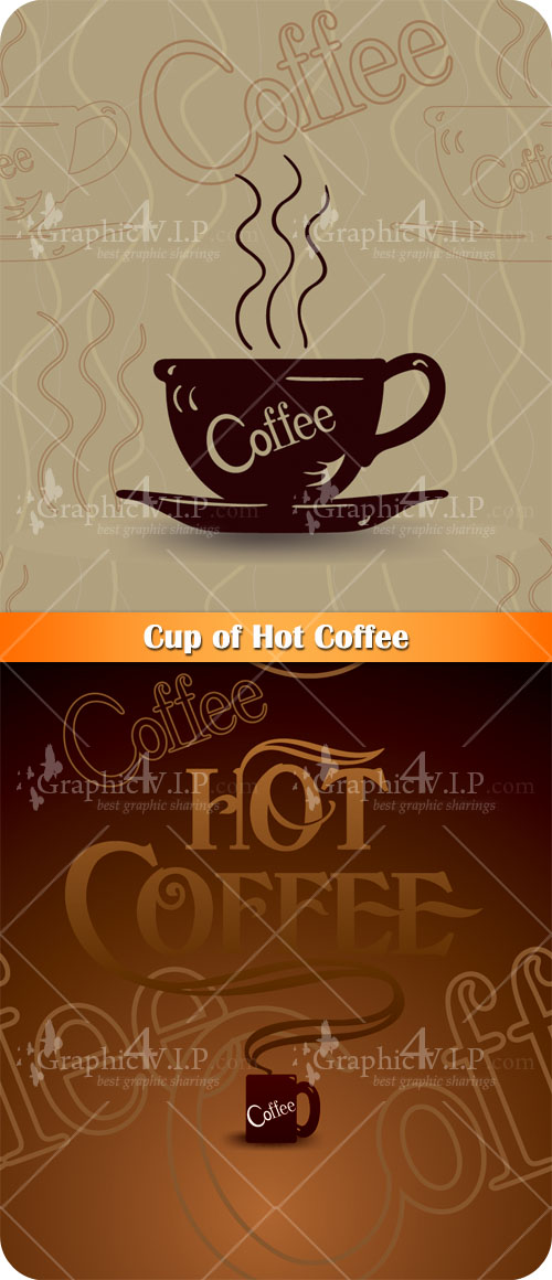 Cup of Hot Coffee - Stock Vectors